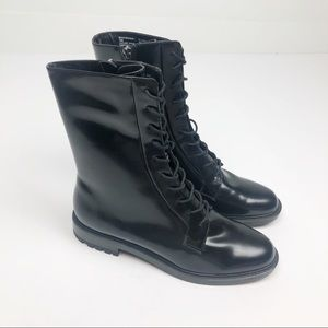 Steve Madden Brant Black Lace Up Leather Boot 10
